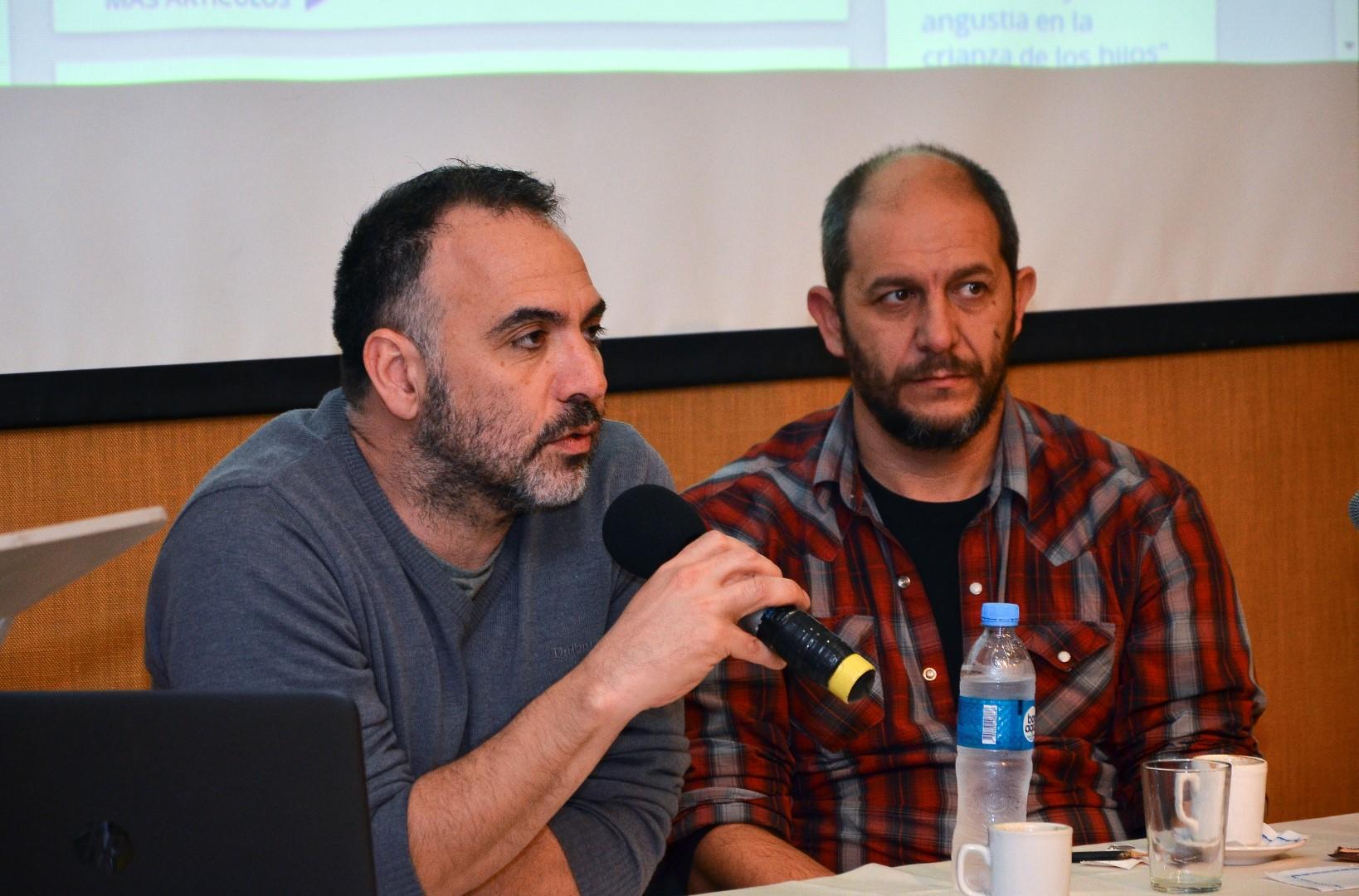 """Los alumnos de Producción Artística analizaron el corto """"La expresión del deseo"""" de la mano de sus realizadores Caetano y Apezteguia"""
