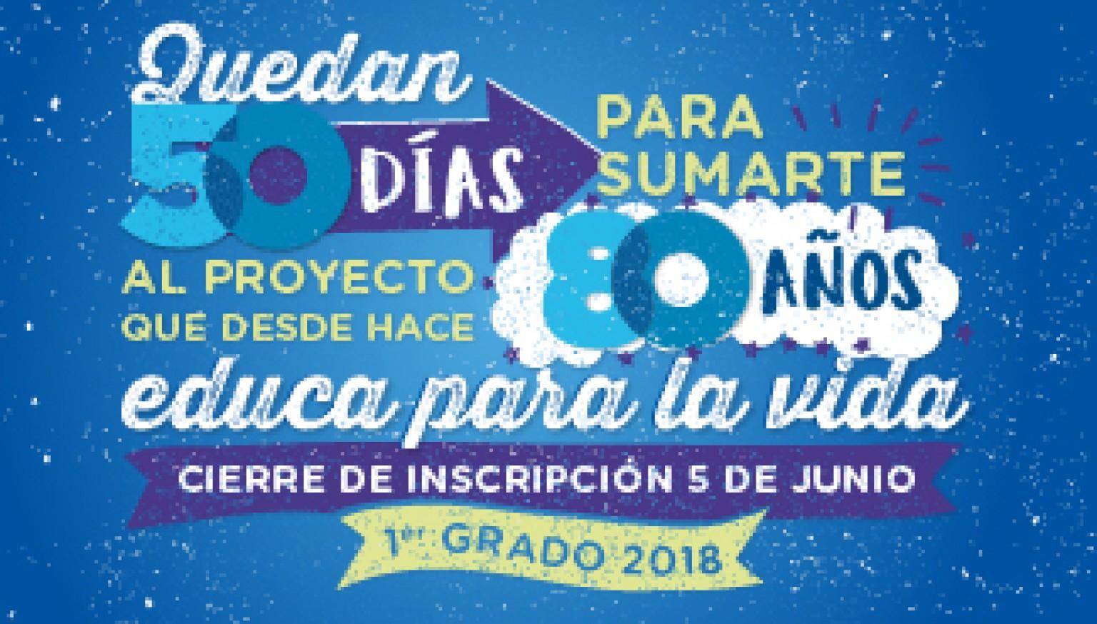 Cierre de inscripción 1er. grado 2018