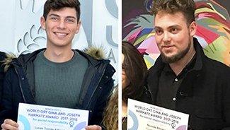 Dos estudiantes fueron distinguidos por su compromiso social